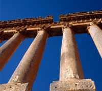 Jupiter Temple at Baalbeck, Lebanon.