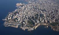Beirut from the air.