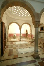 A Turkish bath in Beiteddine Palace.