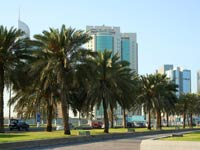 The Corniche in Doha.
